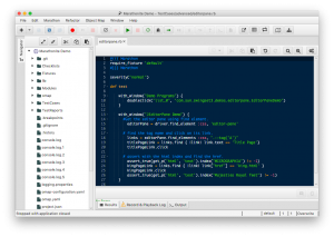 GUI Tests with MarathonITE - Screenshot
