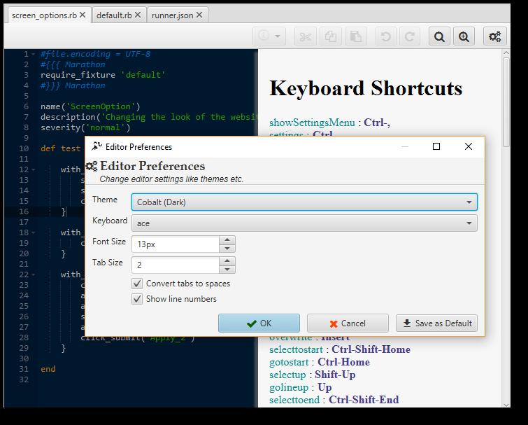 Test Script Editor - MarathonITE