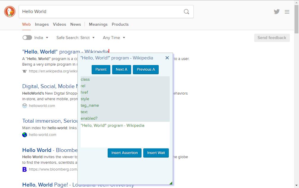 Marathonite Assertions Window - Web