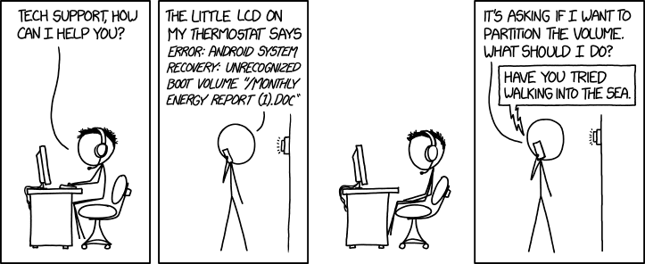 Thermostat Software Failure - xkcd